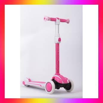 Детский городской самокат Royal Baby Suspension с подсветкой колеса Розовый