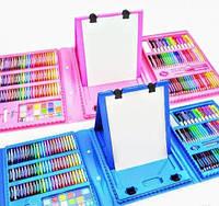 Набор для рисования с мольбертом Чемодан творчества художественный набор 208 предметов Розовый/голубой