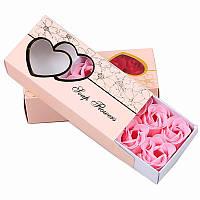 Ароматические розы из мыла в подарочной упаковке нежно-розовые, 10 шт! Прекрасный подарок для любимых!!