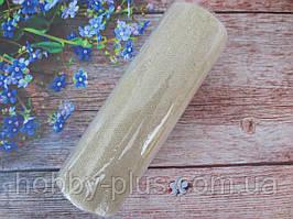 Фатин-сетка с мелкими блестками, ширина 15 см, (цвет белый), 1 рулон, 10 ярдов