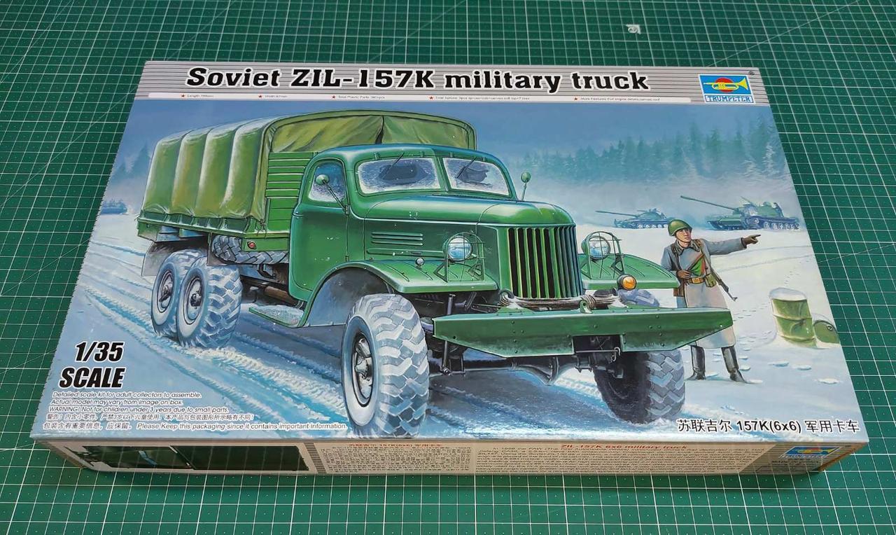 Советский военный грузовик ЗИЛ-157К. Сборная модель в масштабе 1/35. TRUMPETER 01003