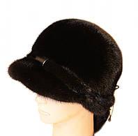 """Норковая шапка """"Венеция"""" (черный)"""