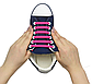 """Зелені силіконові шнурки різної довжини для спортивного взуття. """"Ледачі шнурки"""". Гумові шнурки для кросівок, фото 9"""