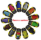 """Рожеві силіконові шнурки різної довжини для спортивного взуття. """"Ледачі шнурки"""". Гумові шнурки для кросівок, фото 2"""