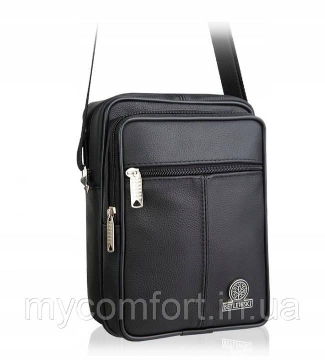 Шкіряна чоловіча сумка Betlewski на плечі