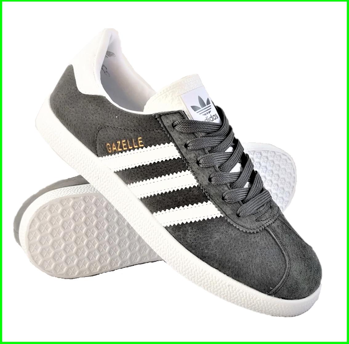 Кроссовки Adidas Gazelle Серые Мужские Адидас (размеры: 41) Видео Обзор