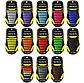 """Жовті силіконові шнурки різної довжини для спортивного взуття. """"Ледачі шнурки"""". Гумові шнурки для кросівок, фото 3"""