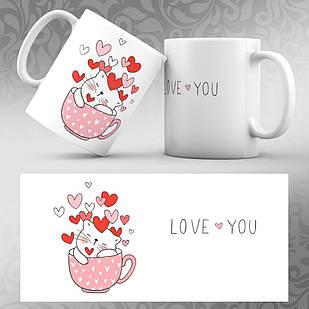 Чашка 14 февраля День Святого Валентина 05