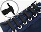"""Синие силиконовые шнурки разной длины для спортивной обуви. """"Ленивые шнурки"""". Цветные шнурки для кроссовок, фото 8"""