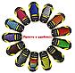 """Силиконовые шнурки разной длины для спортивной обуви. """"Ленивые шнурки"""".Цветные шнурки для кроссовок. Цвет микс, фото 2"""