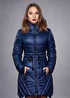 Женский зимний пуховик, цвет синий