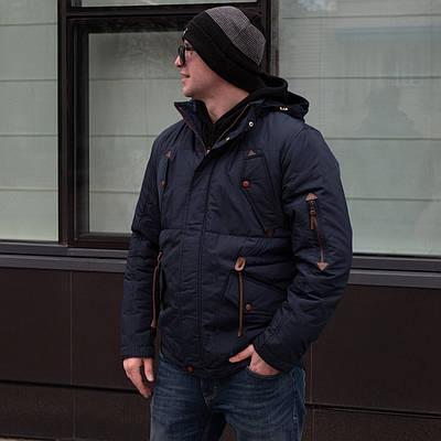 Куртки демисезонные мужские  от производителя    44-54 темно-синий