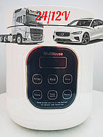 Мультиварка рисоварка на 2 литра 12/24 вольт в прикуриватель для грузовых и легковых авто. Для дальнобойщиков.