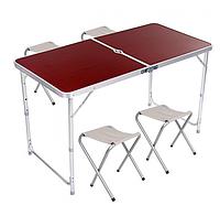Набор мебели для пикника: стол+4 стула