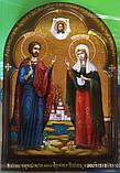 Ікона писана Святі мученики Адріан і Наталія - покровителі сім'ї. Покровителі подружжя, фото 4