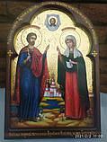 Ікона писана Святі мученики Адріан і Наталія - покровителі сім'ї. Покровителі подружжя, фото 3