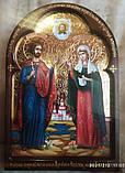 Ікона писана Святі мученики Адріан і Наталія - покровителі сім'ї. Покровителі подружжя, фото 6