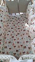 Детский постельный комплект в кроватку для новорожденного, 12 подушек бортики 2212310500
