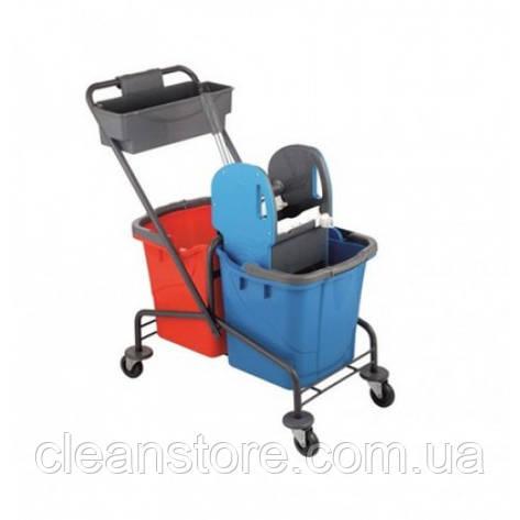Візок для прибирання, хромована, фото 2