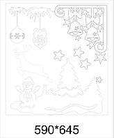 Новорічний декор на вікна Зимова композиція | Новогодний декор на окна Зимняя композиция