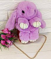 Сумка-рюкзак Зайчик (кролик) сиреневый, фото 1