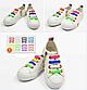 Детские шнурочки. Силиконовые шнурки для детской обуви. Красивые резиновые цветные шнурки. Цвет белый, фото 5