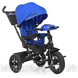Дитячий велосипед Turbotrike М 5448HA-10 триколісний, колеса надувні, музика, фара, індиго
