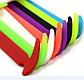Детские шнурочки. Силиконовые шнурки для детской обуви. Красивые резиновые цветные шнурки. Цвет красный, фото 8