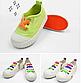 Детские шнурочки. Силиконовые шнурки для детской обуви. Красивые резиновые цветные шнурки. Цвет оранжевый, фото 6
