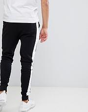 Мужские спортивные штаны Puma (Пума) с лампасами черные, фото 3