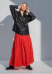 Модный кожаный жакет оверсайз Leila (42–46р) в расцветках