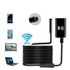 Wi-Fi Эндоскоп c HD камерой:720P  Ø8 мм 1 метр. Бороскоп.
