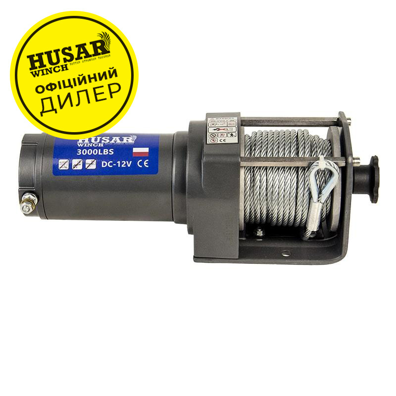 ✅Лебедка электрическая HUSAR BST 3000 на 1,4т. электролебедка автомобильная 12 вольт