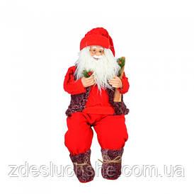 Дед Мороз с мягкими ногами, сидячий, 70 см SKL11-209861