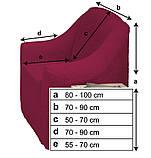 Чехлы на диван и два кресла меховые, плюшевые, без оборки внизу, для мягкой мебели, натяжные Venera Коричневый, фото 6