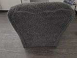 Чохли на диван і два крісла хутряні, плюшеві, без оборки внизу, для м'яких меблів, натяжні Venera Графітовий, фото 7