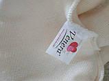 Чехол на угловой диван плюшевый, меховой, без оборки внизу, натяжные Venera Цвет Молочный, фото 6