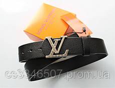 Чоловічий подарунковий набір - ремінь і гаманець Louis Vuitton black, фото 2