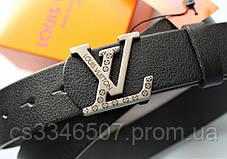 Чоловічий подарунковий набір - ремінь і гаманець Louis Vuitton black, фото 3