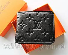 Мужской подарочный набор - ремень и кошелек с тиснением Louis Vuitton black, фото 3