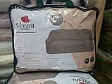 Чехол на диван с подлокотниками, без оборки, меховой, плюшевый, натяжной, большого размера Venera Коричневый, фото 8