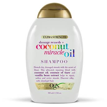 Восстанавливающий шампунь с кокосовым маслом OGX Extra Strength Coconut Miracle Oil Shampoo 385 мл