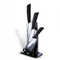 Набор из трех керамических ножей на подставке для кухни