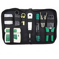 Профессиональный набор инструментов для монтажа витой пары, прокладки и обслуживания сети MHZ R11, 8