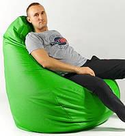 Кресло мешок пуфик груша зеленое XХL 150х100 см