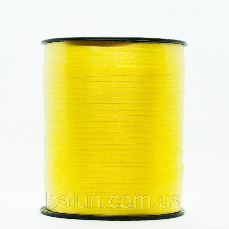 Стрічка декоративна жовта , 300м