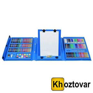Уцінений набір для дитячої творчості у валізі з мольбертом | 208 предметів