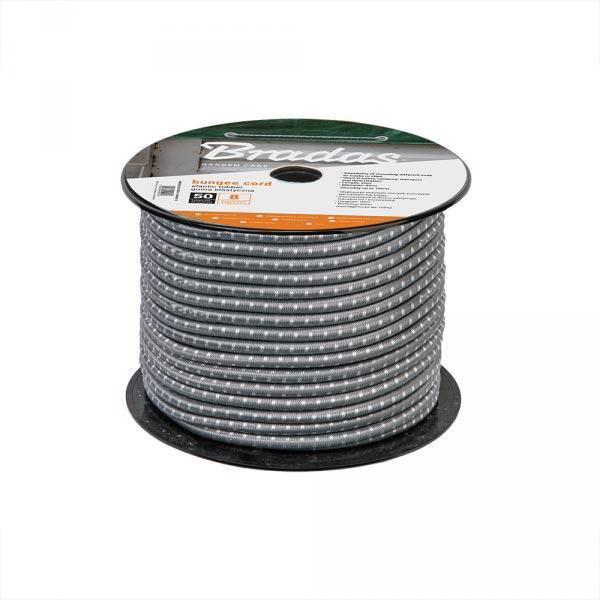 Гумовий шнур, BUNGEE CORD, 0.8х50м, сірий, BCDIY-0850GY-R