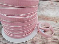 Оксамитова стрічка, 1 см, колір РОЖЕВИЙ