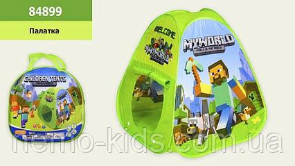 Палатка детская игровая. Майнкрафт.